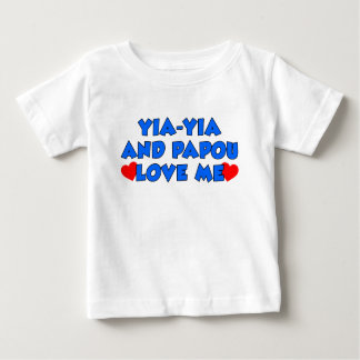 Yia-Yia and Papou Love Me Baby T-Shirt