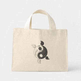 Yin and Yang the Koi Light Tote Bag