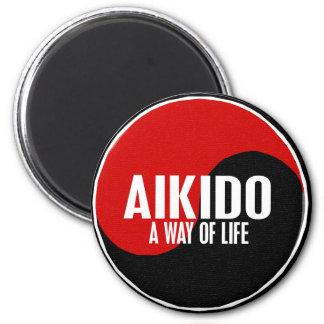 Yin Yang Aikido 1 6 Cm Round Magnet