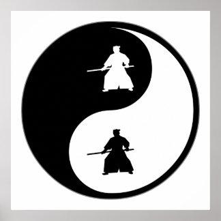 Yin Yang Aikido Poster