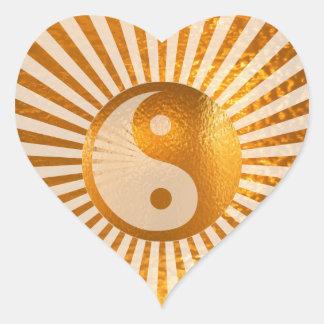 YIN YANG Balance : A MUST buy for yourself Heart Sticker