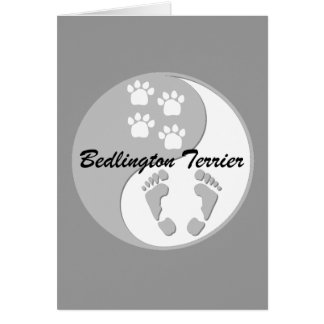yin yang Bedlington Terrier Card