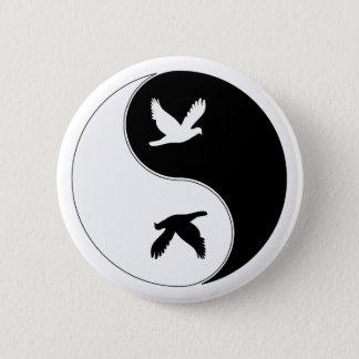 Yin Yang Bird 6 Cm Round Badge