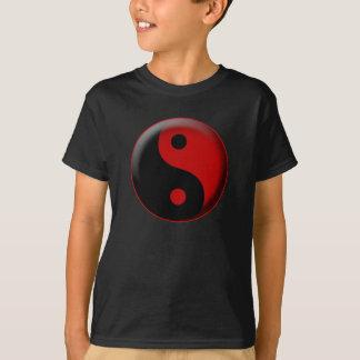 YIN YANG BLACK RED 3D T-Shirt
