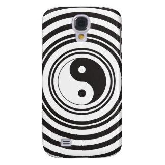 Yin Yang Black White Concentric Circles Pattern Galaxy S4 Case
