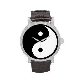 yin-yang black/white taoist watches