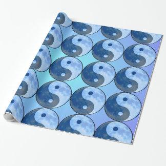 Yin Yang Blue Moon Gift Wrapping Paper