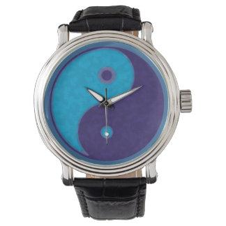 yin-yang blue taoist wrist watches