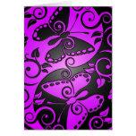 Yin Yang Butterflies, purple & black Greeting Card