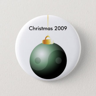 Yin Yang Christmas Ball 6 Cm Round Badge