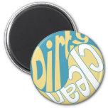 Yin Yang Dirty Clean Dishwasher Magnet Yellow/Aqua