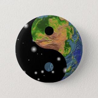 Yin Yang Earth 6 Cm Round Badge