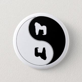 Yin Yang Gorilla 6 Cm Round Badge