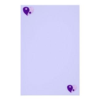 Yin Yang Heart (Purple/Lilac) Stationery