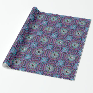 Yin Yang Mandala in Purple Colors Wrapping Paper