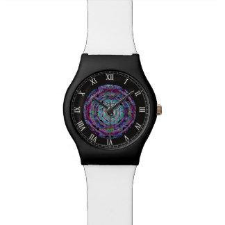 Yin Yang Mandala Purple Watch