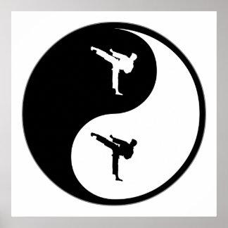Yin Yang Martial Arts Print