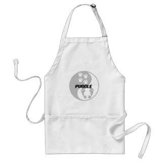 yin yang puggle standard apron