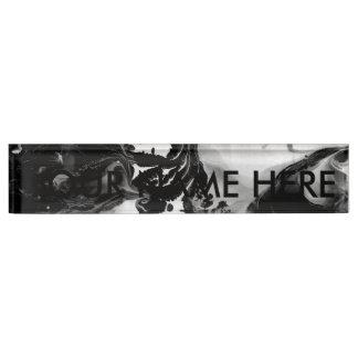 YIN - YANG TOO! (black & white art) ~ ~ Nameplate