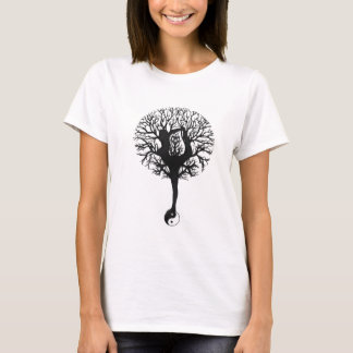 Yin Yang, Tree of Life, Women, Yoga T-Shirt