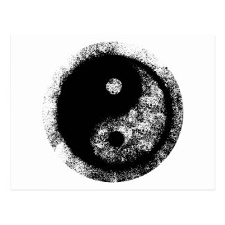 Yin Yang White Black The MUSEUM Zazzle Gifts Post Cards
