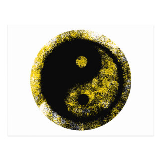 Yin Yang Yellow Black The MUSEUM Zazzle Gifts Post Card