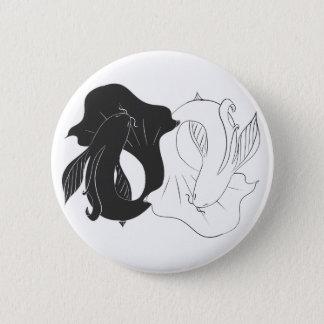 Ying and Yang koi 6 Cm Round Badge
