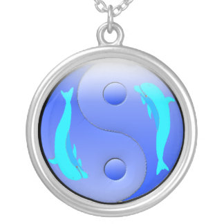 Ying-Yang Dolphin Necklace