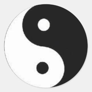 Ying Yang Peace Sign Sticker
