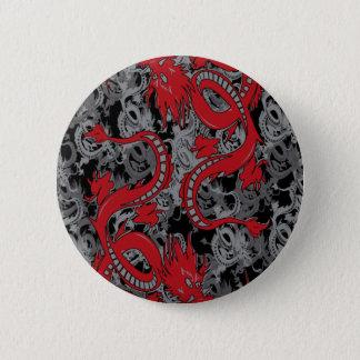 Ying Yang Red Dragons 6 Cm Round Badge