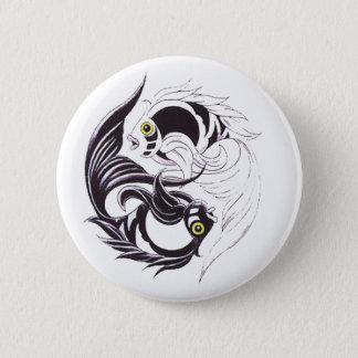 YingYang Koi 6 Cm Round Badge