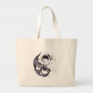 YingYang Koi Large Tote Bag