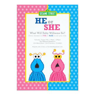 Yip-Yips Gender Reveal 13 Cm X 18 Cm Invitation Card