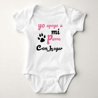 Yo apoyo a mi Perro Baby Bodysuit