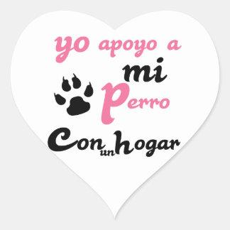 Yo apoyo a mi Perro Heart Sticker