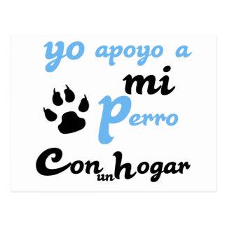 Yo apoyo a mi Perro Postcard