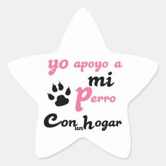 Yo apoyo a mi Perro Star Sticker