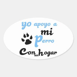 Yo apoyo a mi Perro Oval Stickers