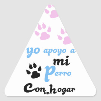 Yo apoyo a mi Perro Triangle Sticker