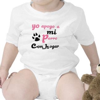 Yo apoyo a mi Perro Baby Bodysuits