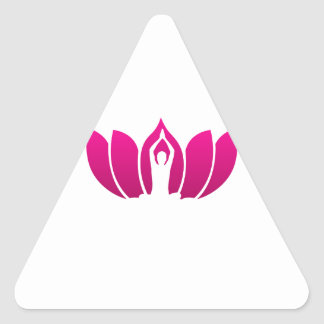 Yoga and meditation graphic triangle stickers