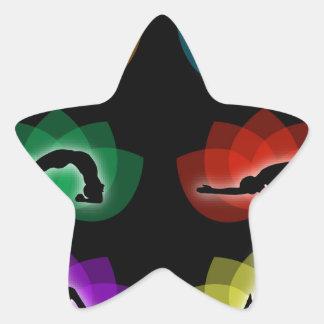 yoga and meditation star sticker