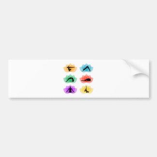 yoga and meditation symbols bumper sticker