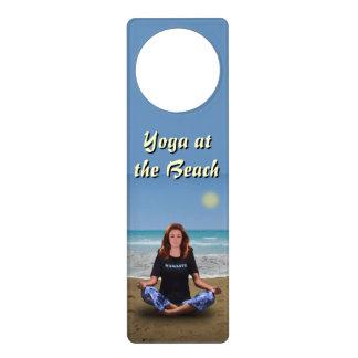 Yoga at the Beach Door Hanger