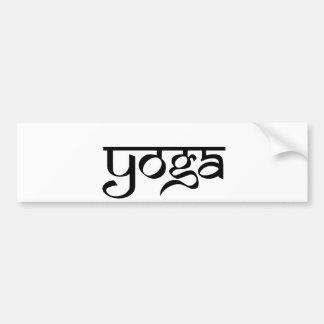 Yoga Design on Sanskrit Style Bumper Stickers