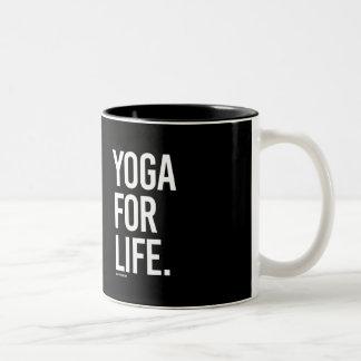 Yoga for Life -   Yoga Fitness -.png Two-Tone Coffee Mug