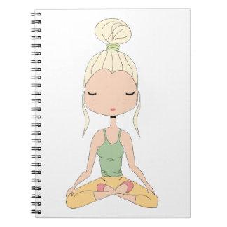 Yoga girl, Spiral Photo Notebook
