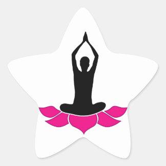 yoga graphic star stickers