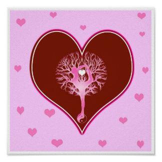Yoga Heart Print