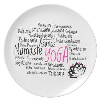 Yoga Instructor's Sanskrit Asanas Yoga Poses Plate